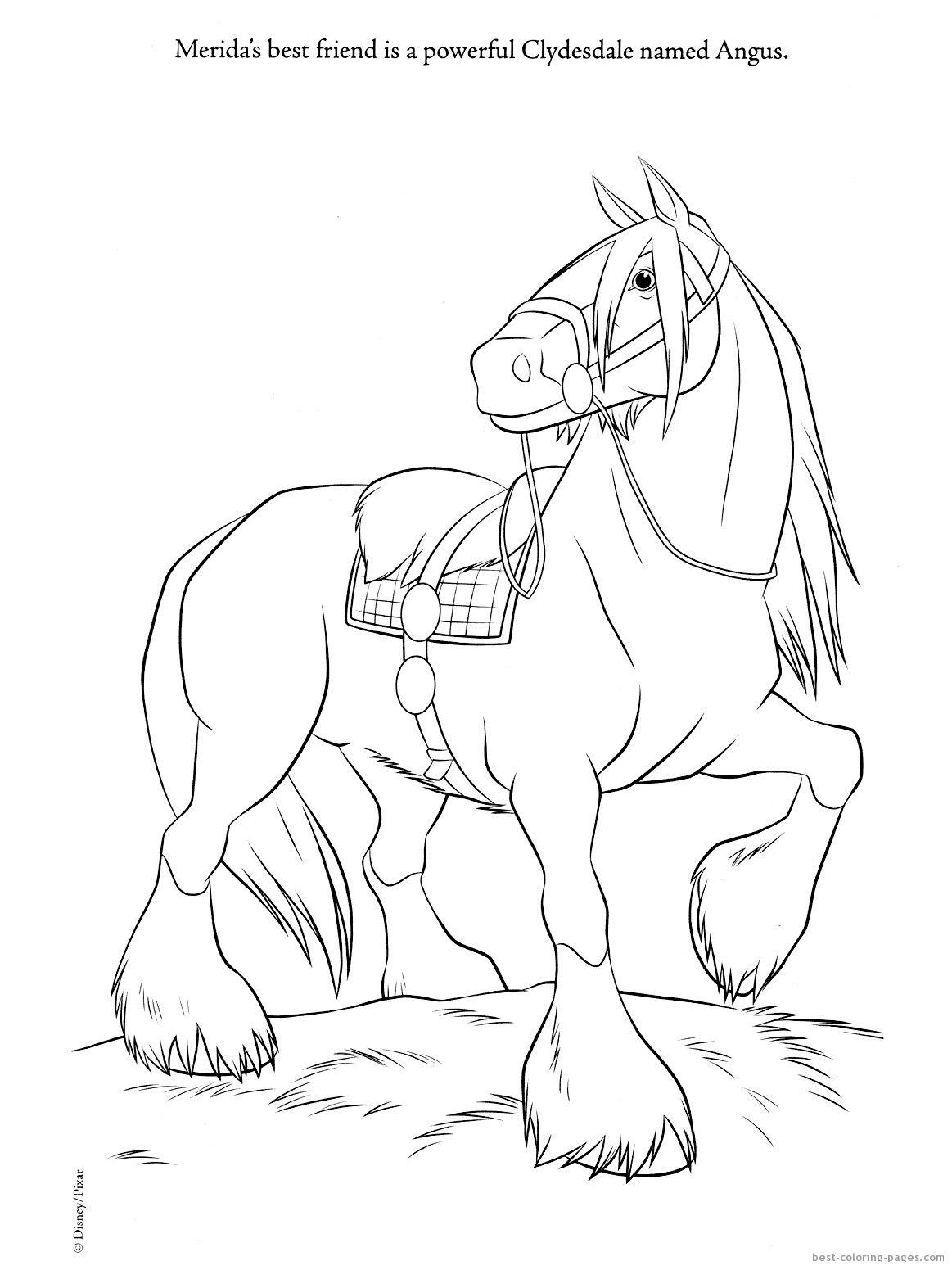 Merida Brave Coloring Sheets Pixar Movie Brave Coloring Pages And Coloring Pictures Of Merida Horse Coloring Pages Horse Coloring Books Horse Coloring