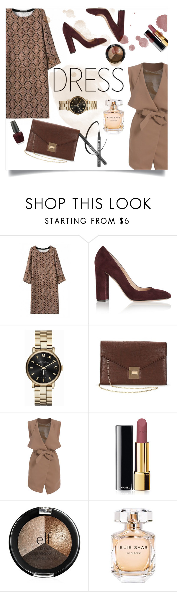 """Keep warm with warm colors"" by marinakoval ❤ liked on Polyvore featuring Gianvito Rossi, Chanel, Elie Saab and OPI"