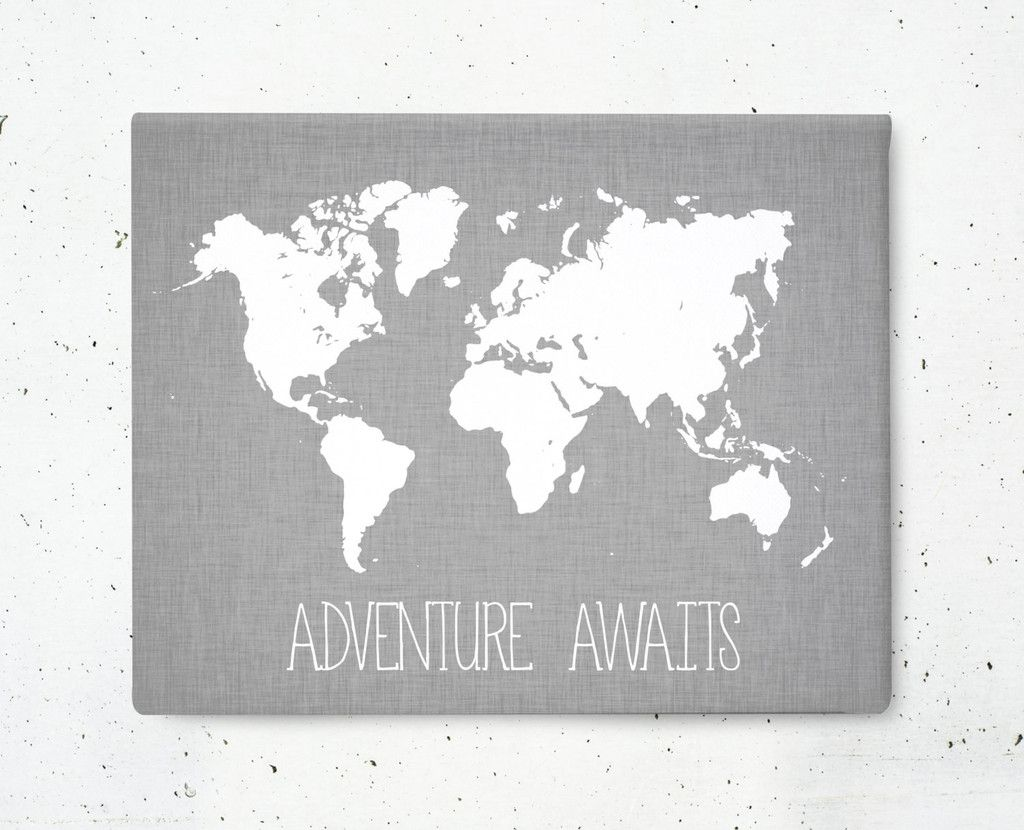 Adventure awaits world map wrapped canvas casa pond pinterest adventure awaits world map wrapped canvas gumiabroncs Choice Image