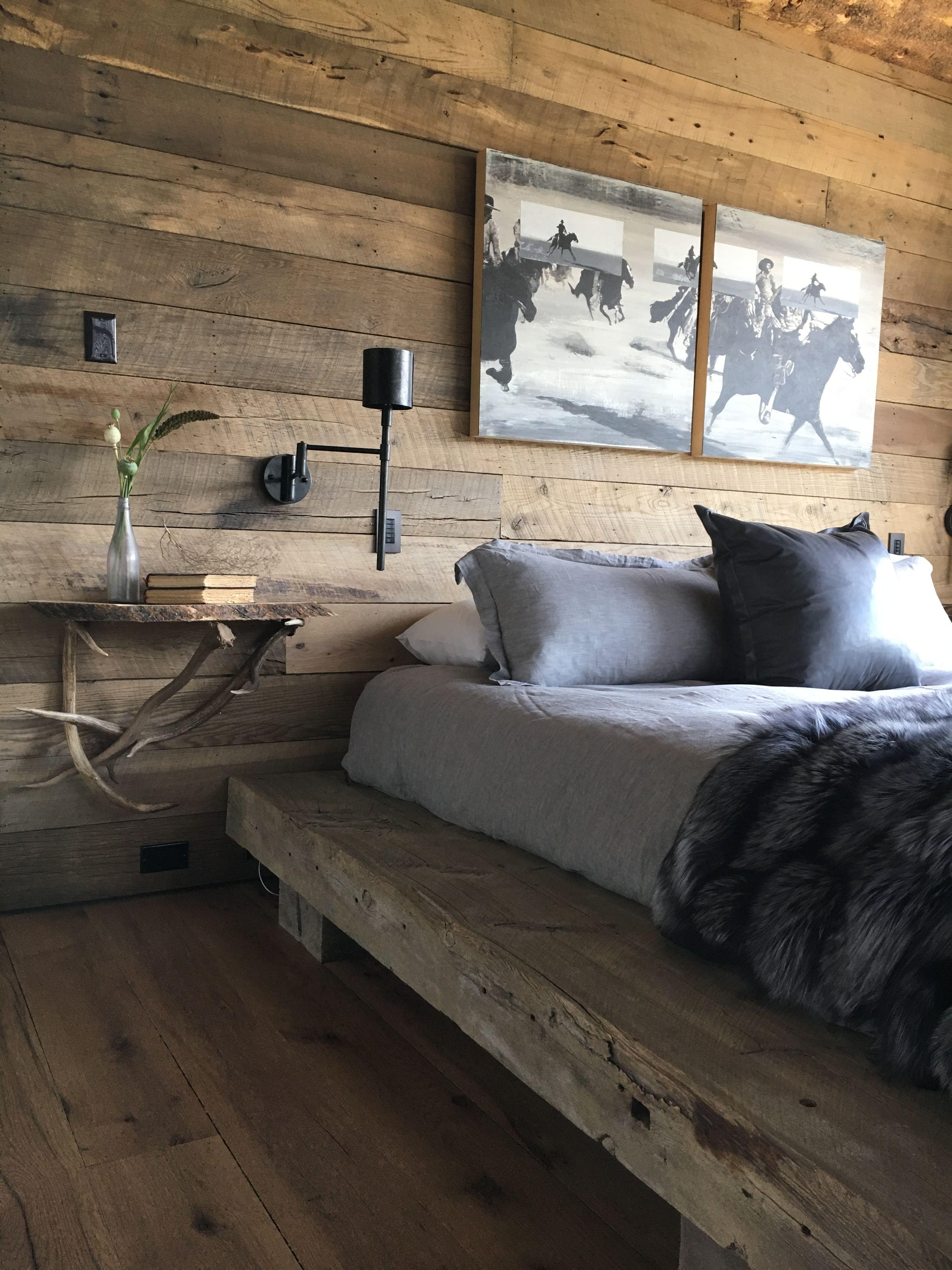 Bedroom in Big Sky, Montana. Rain Houser Home decor