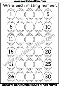 Numbers 1-30 | eğitici | Pinterest