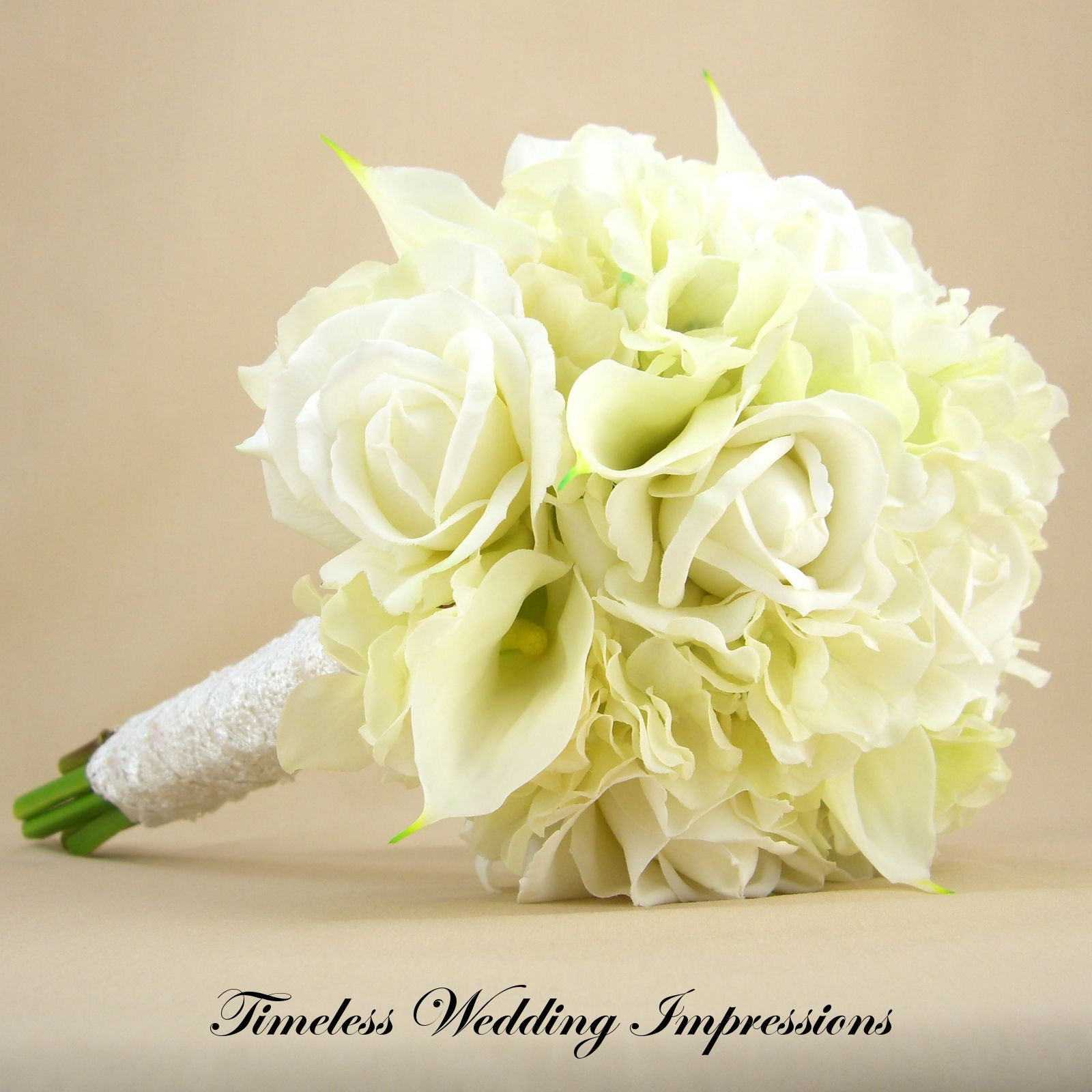 Bridal Bouquet With Calla Lilies And Hydrangeas : White calla lily and red rose bouquet wedding hydrangeas