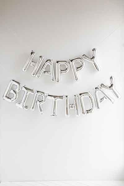 Happy Birthday Metallic Party Balloon Kit