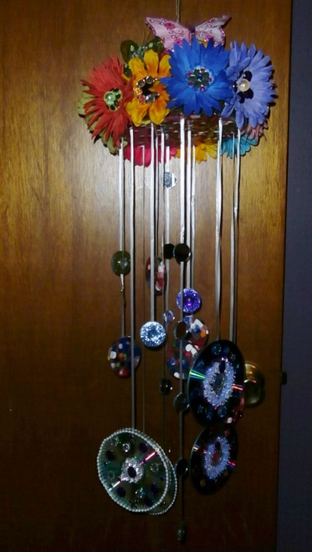 This is a handmade windchime / suncatcher that I made for my mom for Christmas.