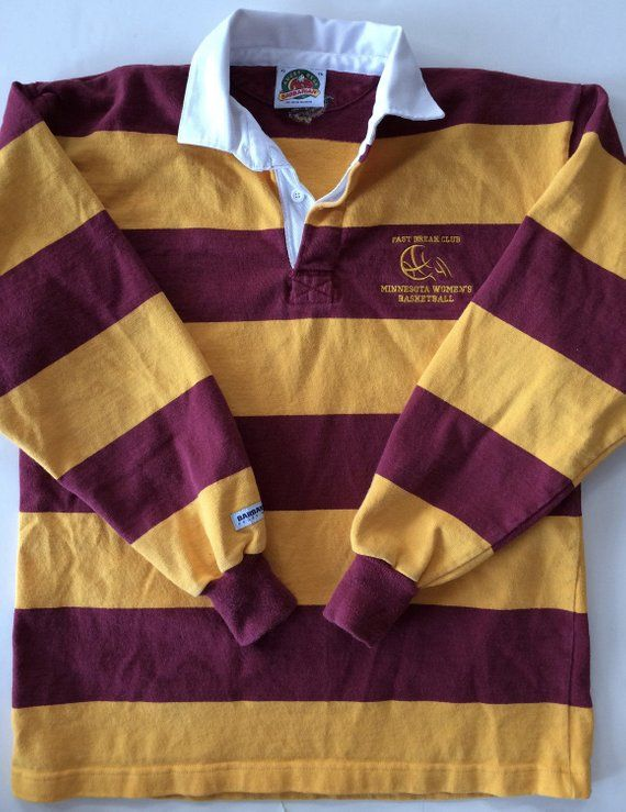 6b014d8ffba College Rugby Shirt / Vintage MN Gophers Basketball - Old School Rugby for  Men or Woman - Classic St