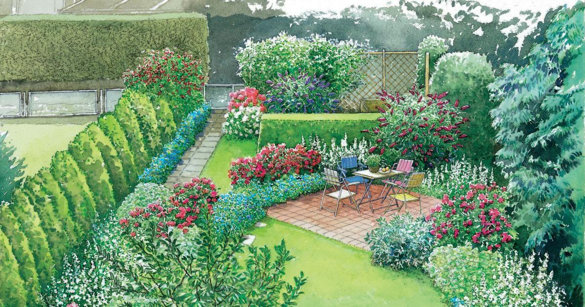 Ein Schmaler Reihenhausgarten Wird Neu Gestaltet Und Dabei Geschickt In  Räume Aufgeteilt. Wir Präsentieren Ihnen Zwei Gestaltungsideen Mit  Pflanzplänen Zum ...