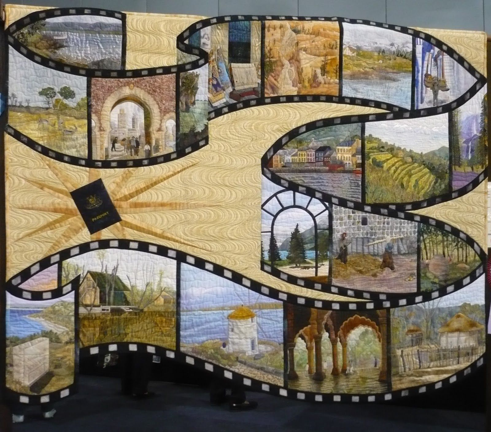 Cool film strip quilt - love this! This would make a great scrapbook ...