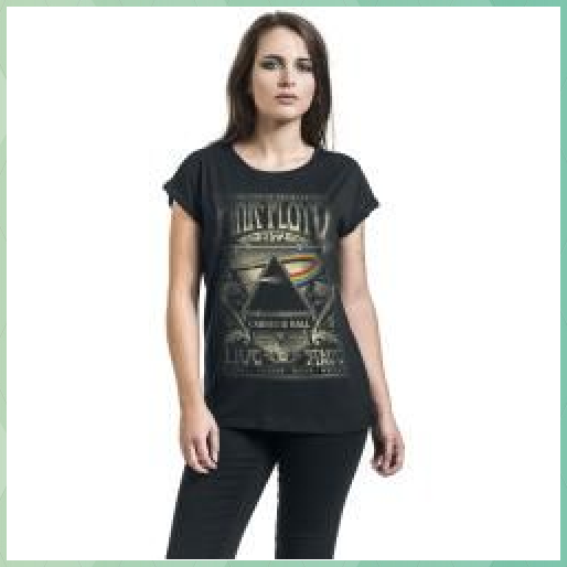 Photo of Pink Floyd Dark Side Of Damen-T-Shirt – schwarz – Offizielles Merchandise #Damen…
