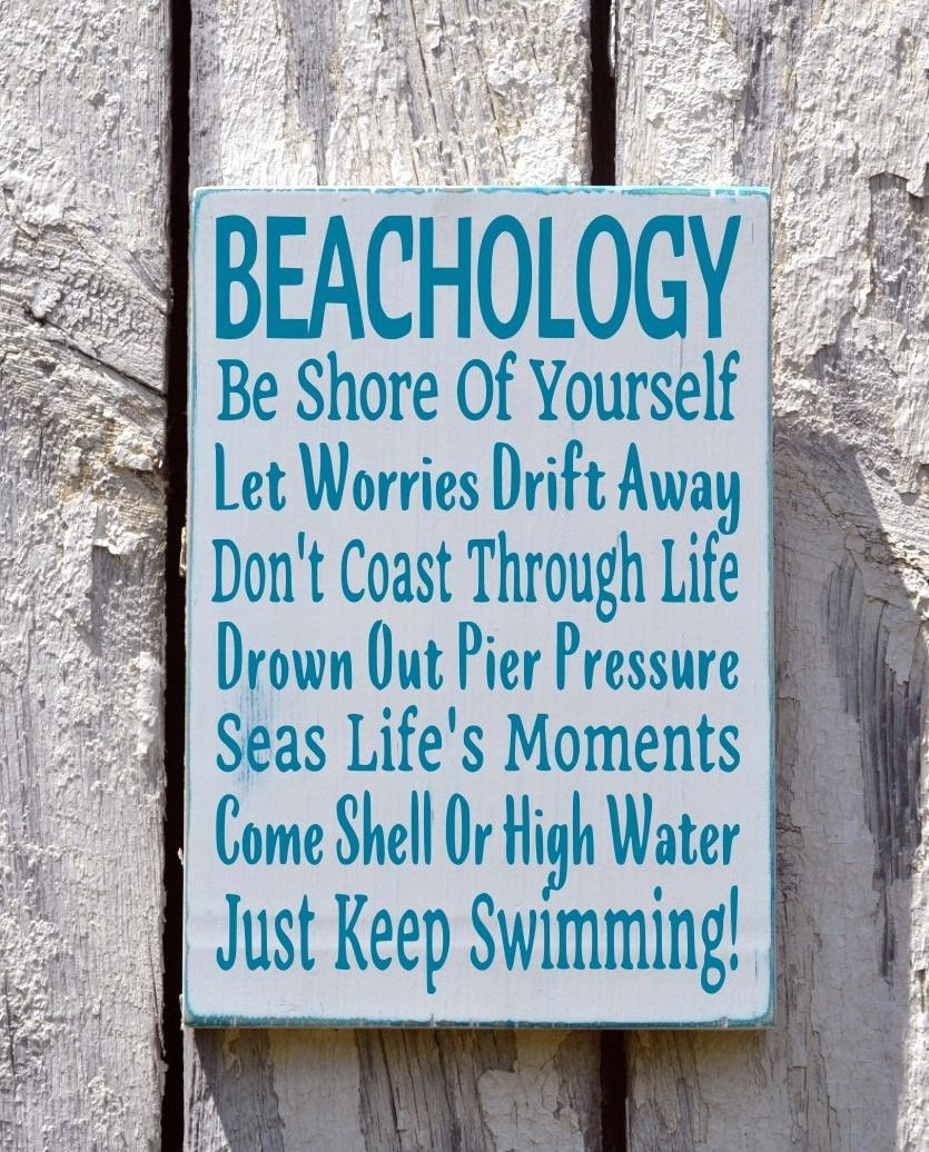 Beach Sign Decor Enchanting Beach Sign Beachology New Unique Beach House Wooden Plaque Rules Inspiration Design