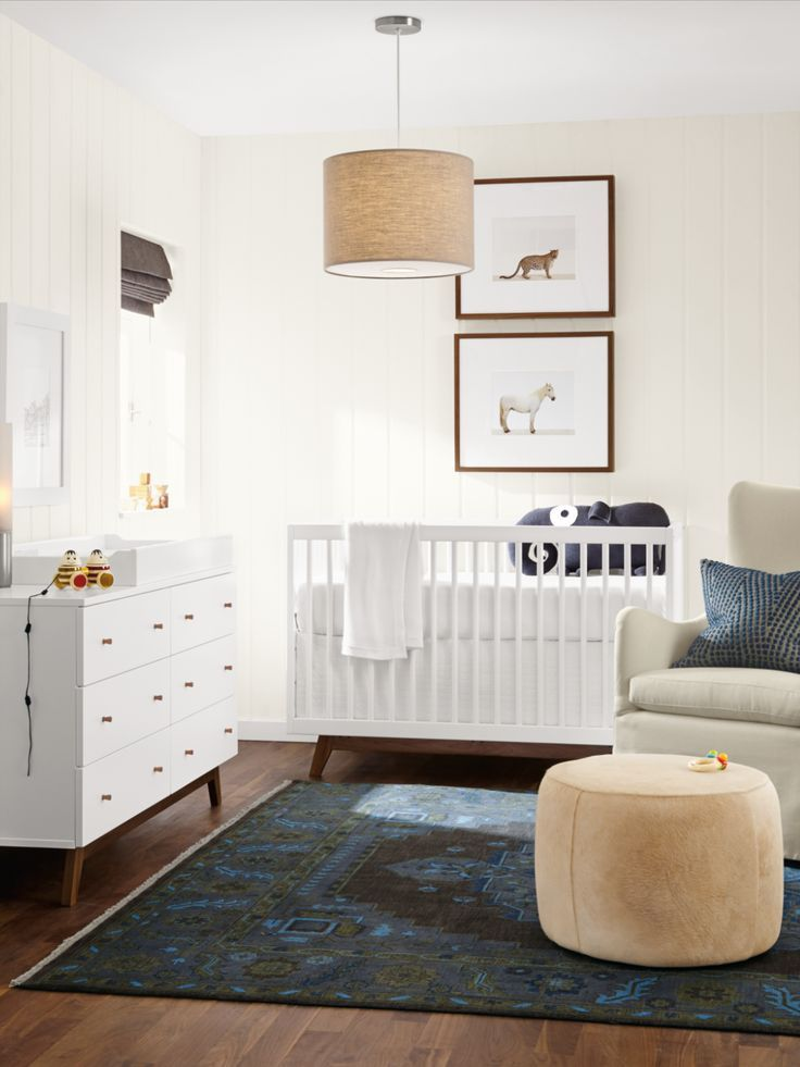 Room & Board - Heriz Hand-knotted Wool Rug - - Modern ...