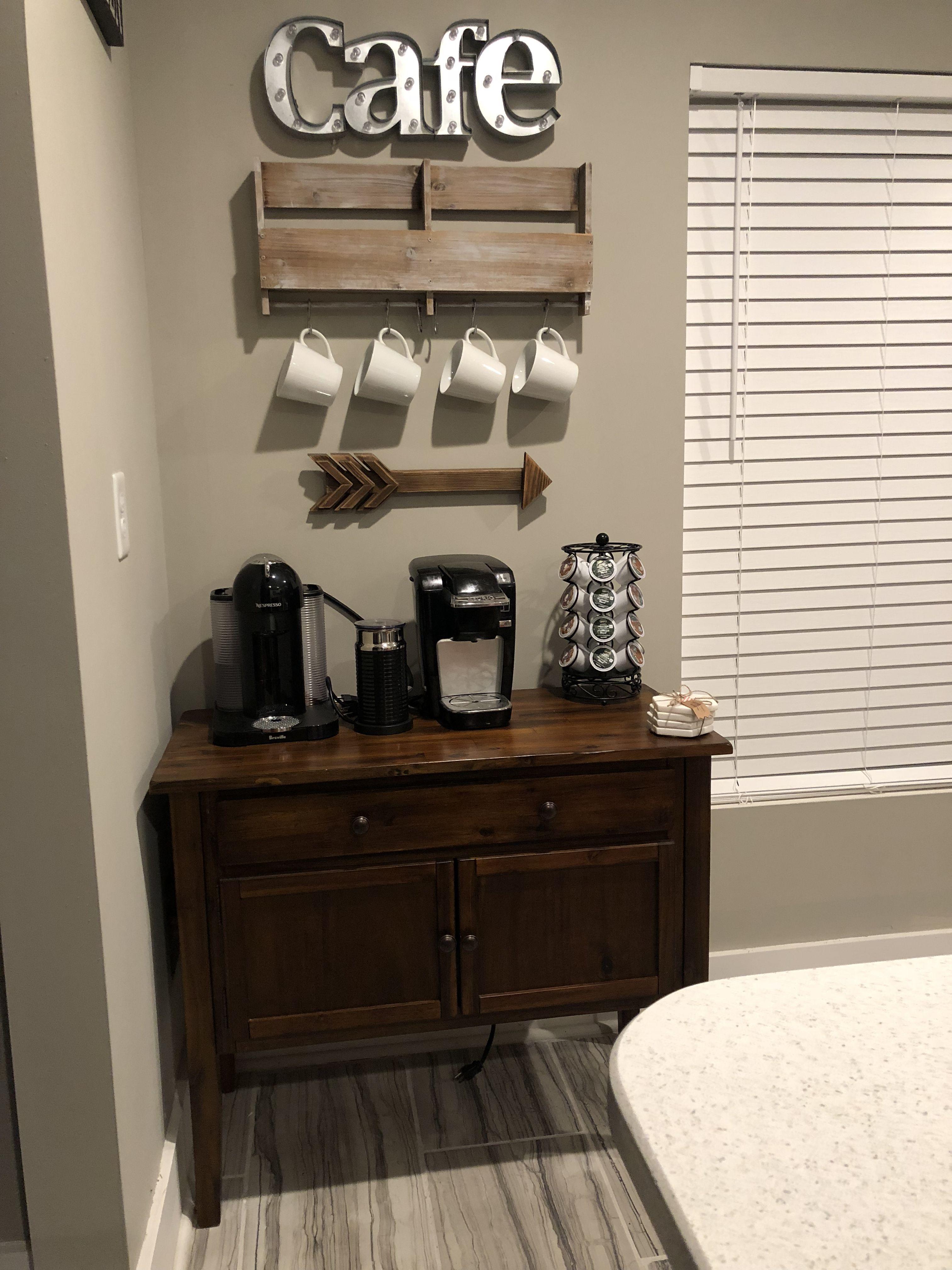 Coffee Station / Coffee Bar / Cafe Keurig and Nespresso
