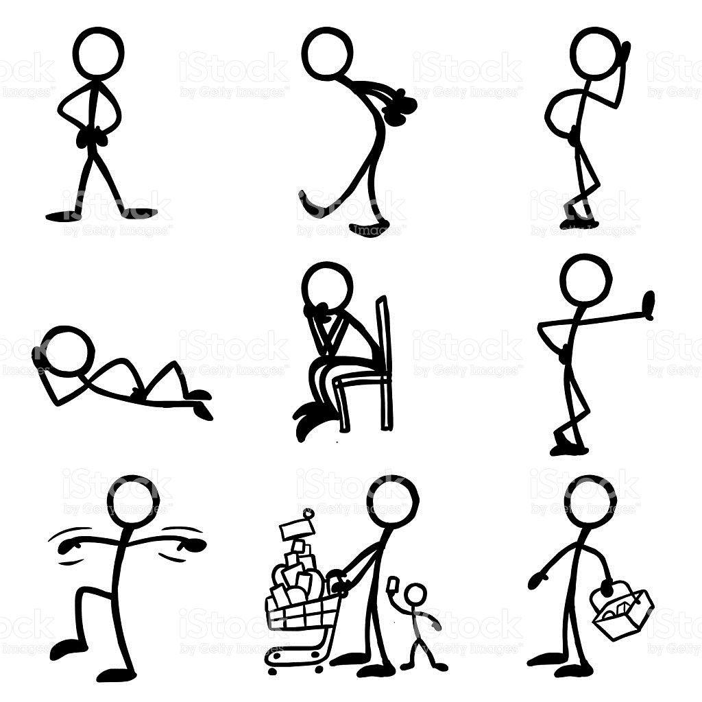 Stick Figures   Strichmännchen, Zeichnen und Zeichnungen