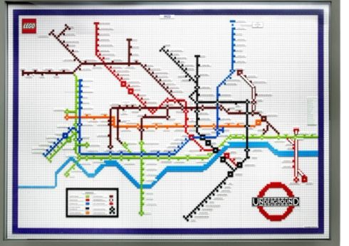 The 1933 version of the London Tube map made entirely from LEGO
