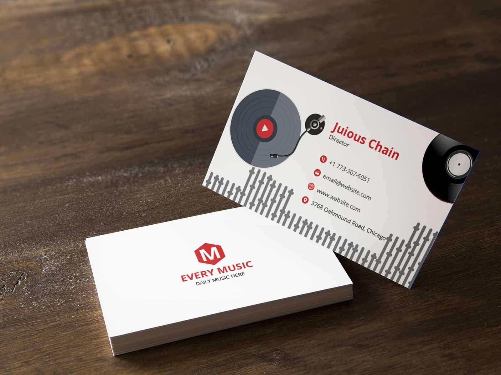 Music Director Business Card Musician Business Card Business Cards Collection Cool Business Cards