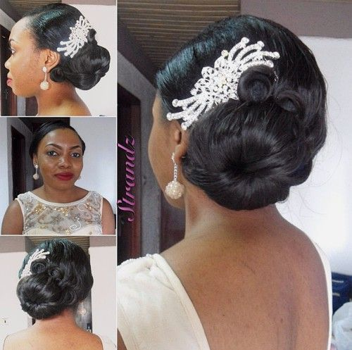 Black Side Bun Wedding Hairstyle Black Wedding Hairstyles Flower Girl Hairstyles Trendy Wedding Hairstyles