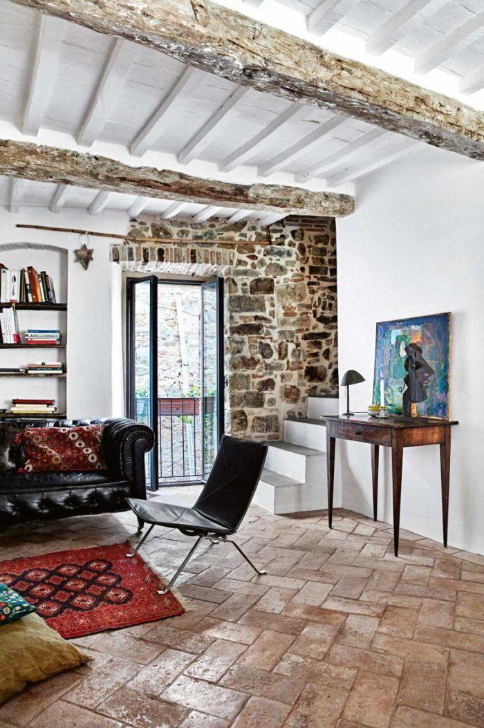 Antiguo estilo r stico renovado en toscana living rooms - Decoracion casas antiguas ...