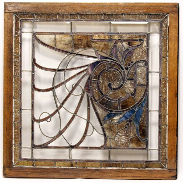 stained glass photo frame | Large antique leaded stained glass pub ...