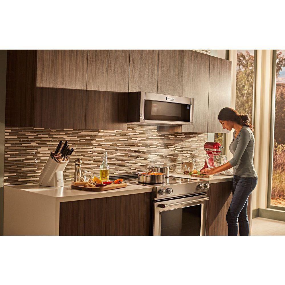 kitchenaid low profile microwave installation