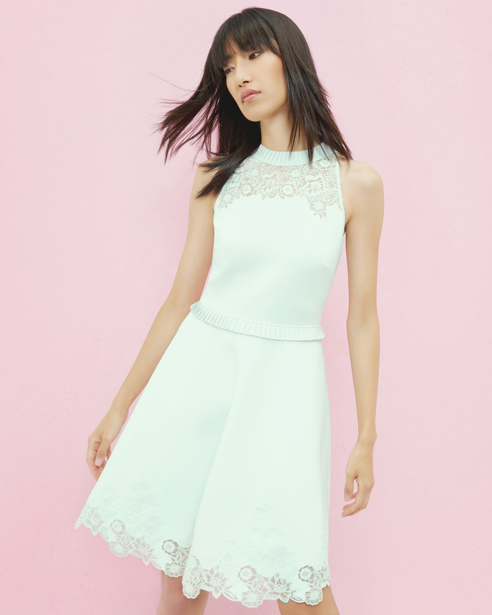 Embroidered skater dress - Light Green | SS17 New Ways Of Wearing ...