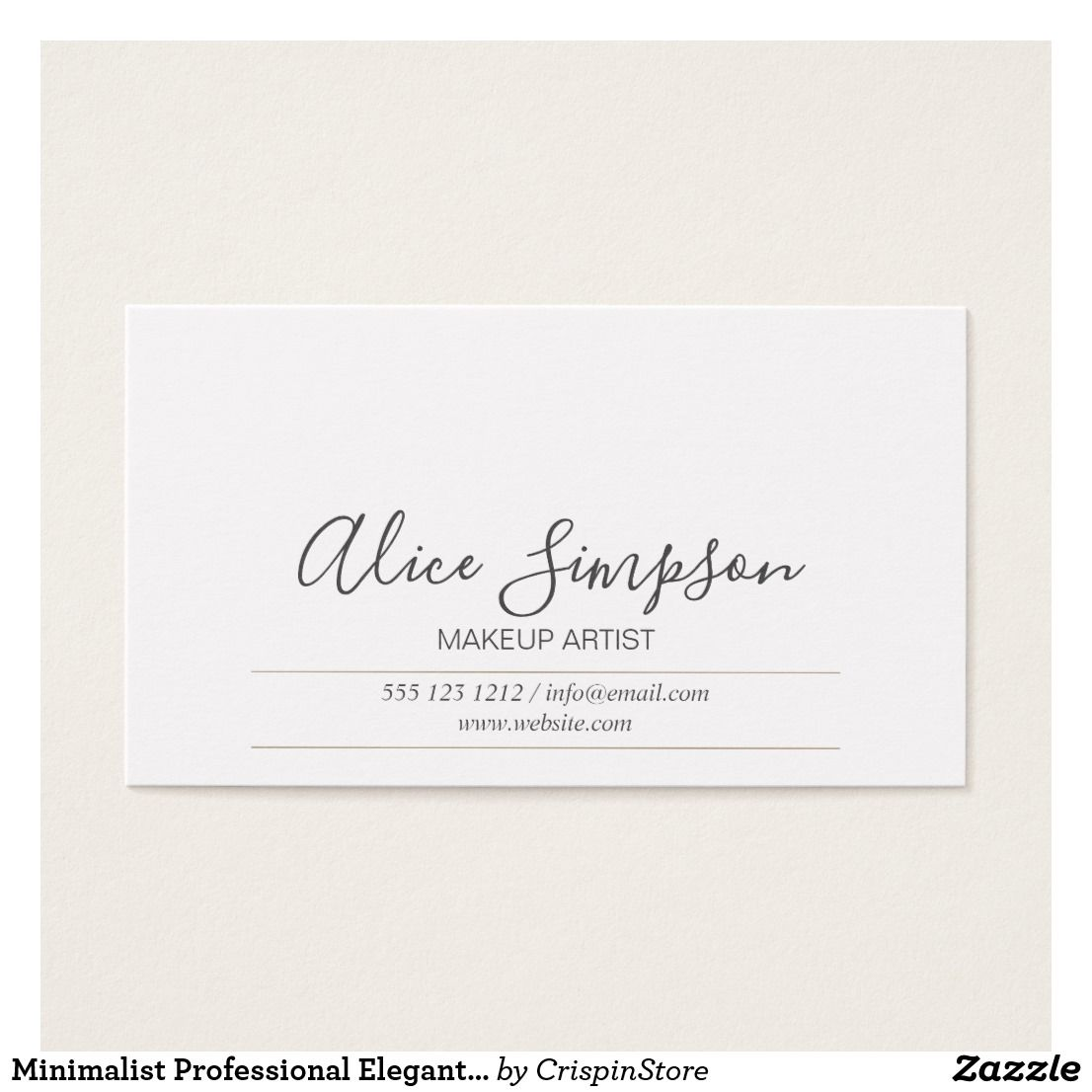 Minimalist Professional Elegant Calligraphy business card. Perfect ...
