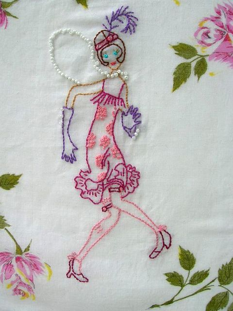 ♒ Enchanting Embroidery ♒ embroidered flapper