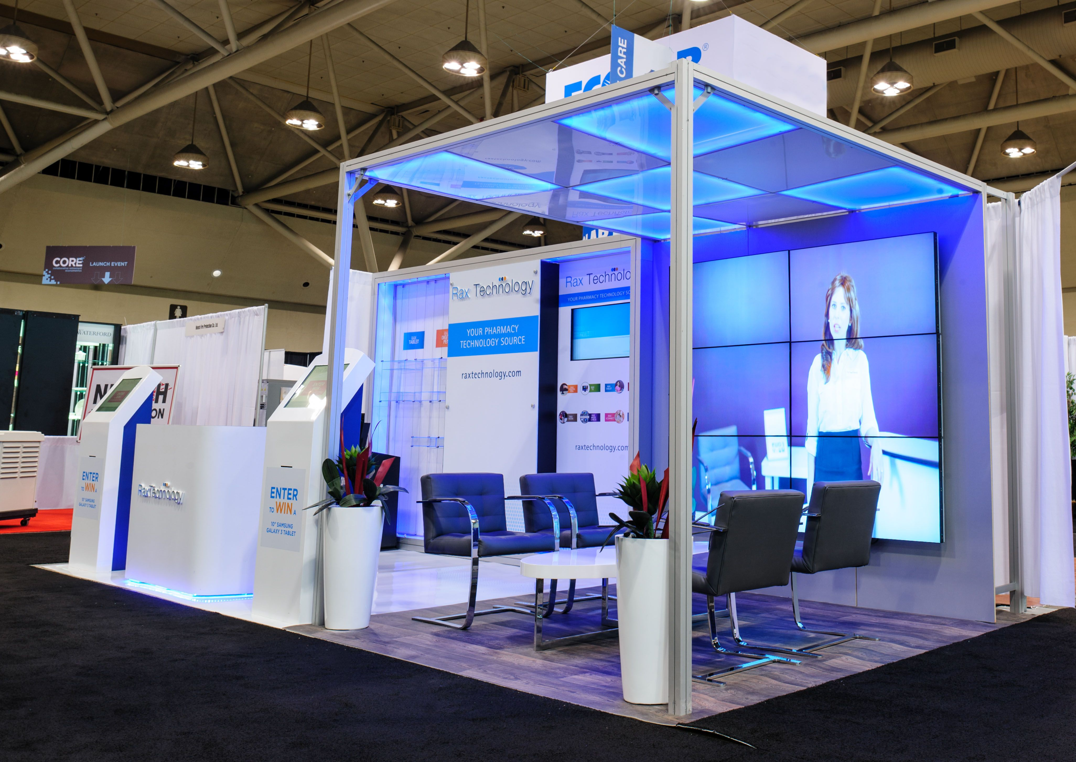 Exhibition Booth Displays : Rax technology  custom booth booths
