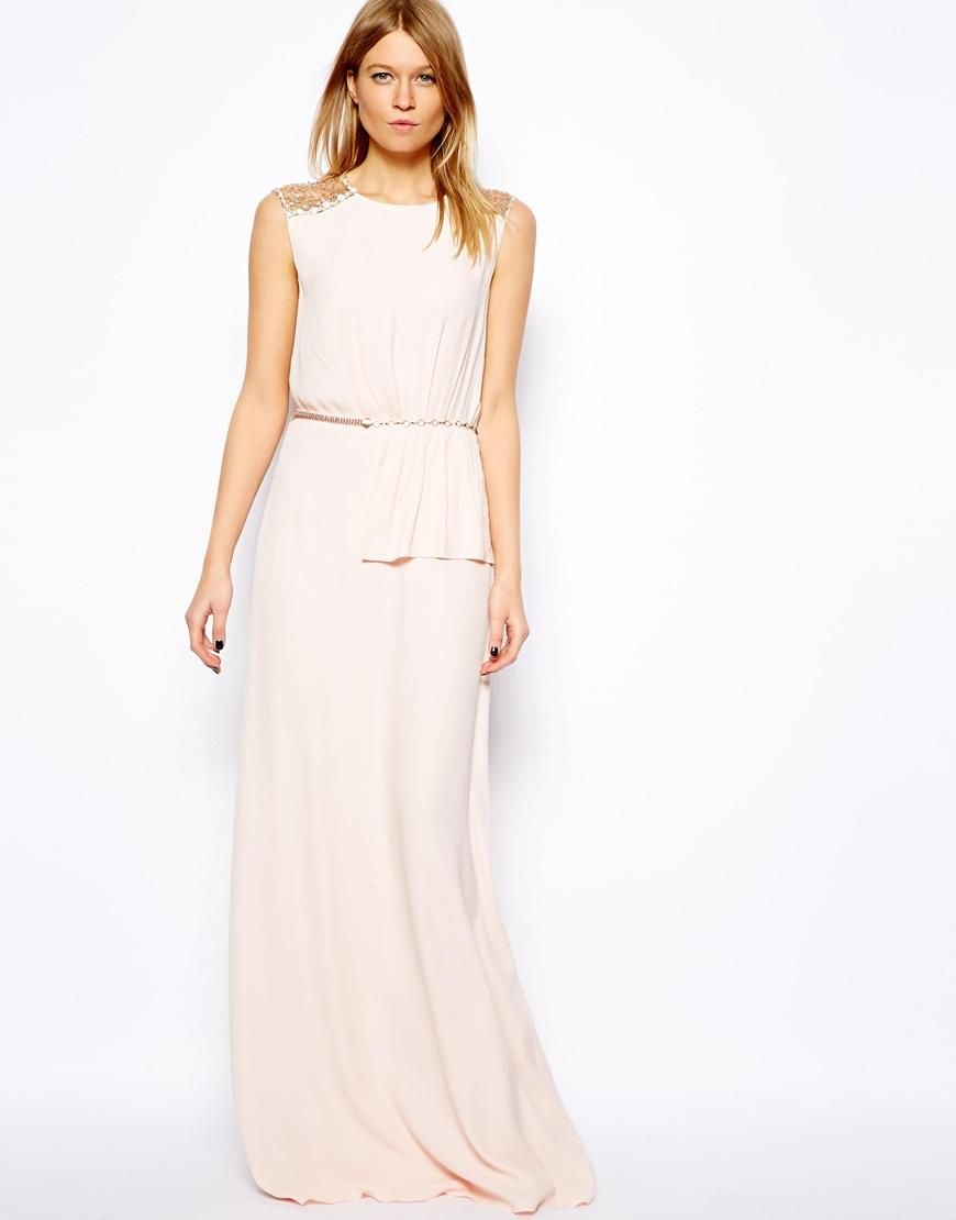 Mango | Mango Sequin Back Maxi Dress at ASOS | Summer Ready! | Pinterest