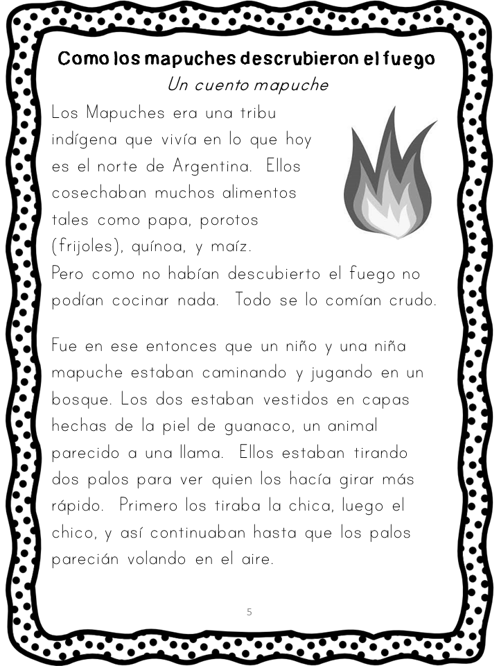 Reading Comprehension Packet {Cuentos Folkloricos y Leyendas}