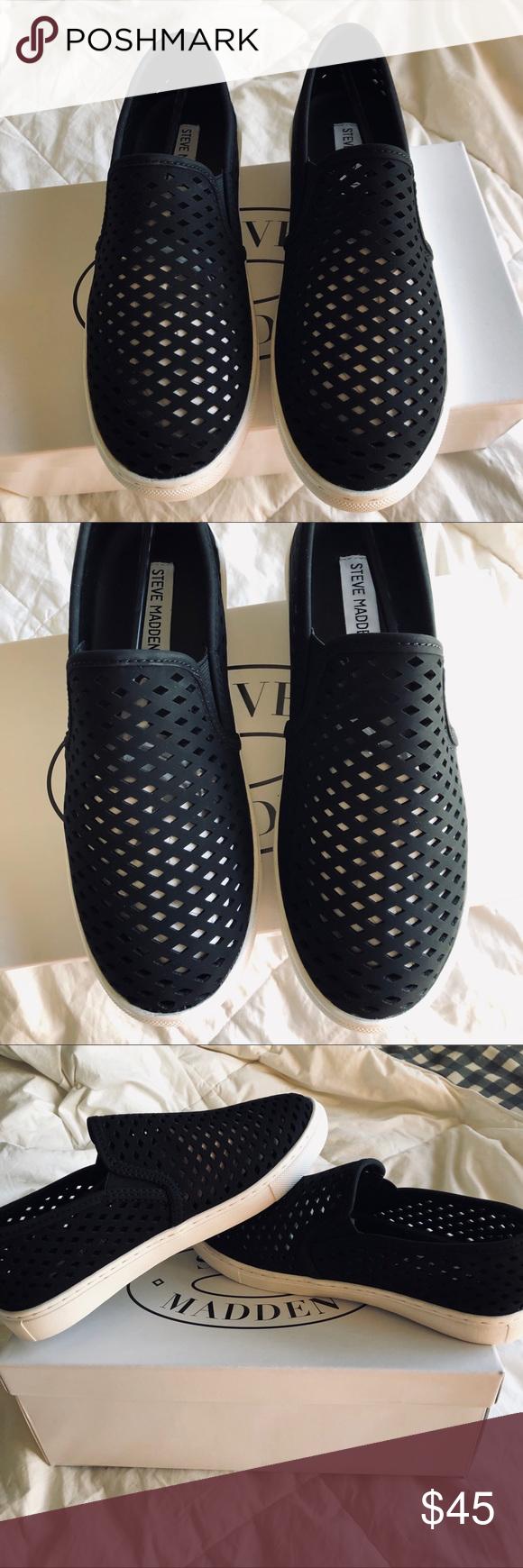 595269bc386 Steve Madden Zeena slip on shoes Steve Madden Zeena slip on black  perforated shoes. Perfect