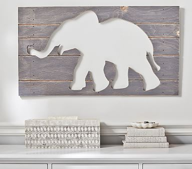 Elephant Plaques Elephant Nursery Design Baby Room Art Baby Wall Art Elephant Nursery