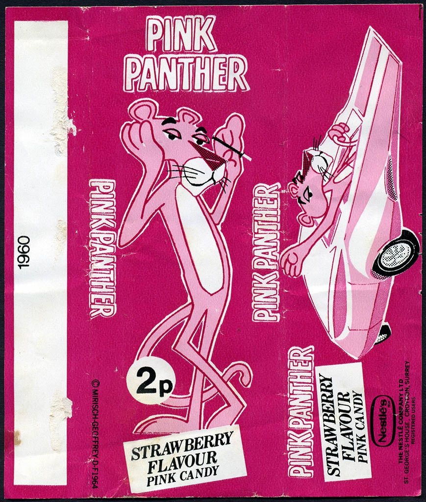 Candy From The 1970s Pink Panther Strawberry Flavour