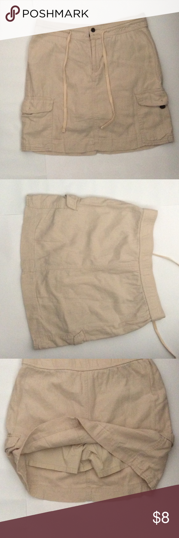Skirt Outer Skirt: 55% Linen, 45% Rayon. Inner Short: 98% Cotton, 2% Spandex Croft & Barrow Shorts Skorts