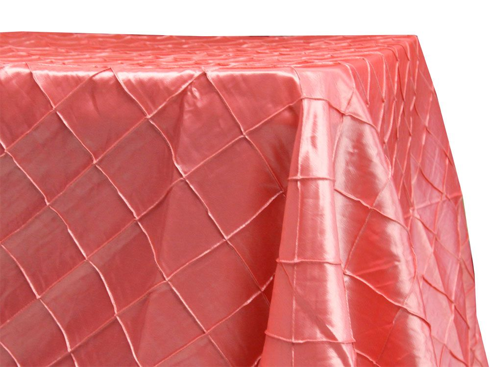 Coral Pintuck Tablecloths Table Runners Napkins And Sashes At