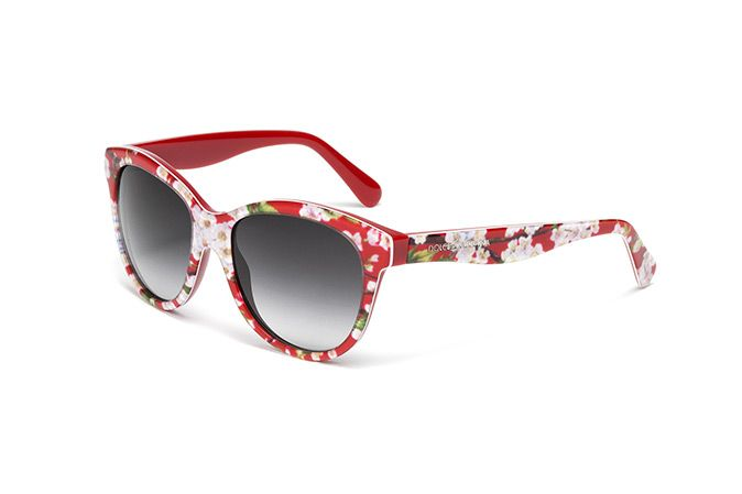 Kids  red and floral print sunglasses with oversize frame by Dolce   Gabbana  dg4176   Eyewear Dolce   Gabbana 55be9da9f6