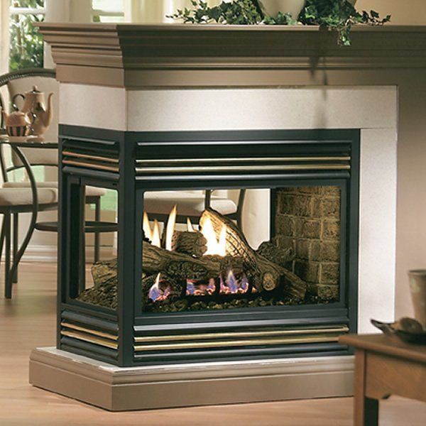 Kingsman MDV31 Peninsula Direct Vent Gas Fireplace in 2020 | Wood burning fireplace inserts ...