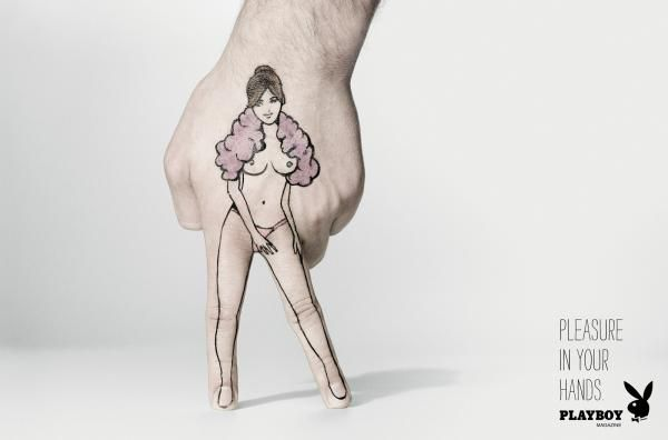 Playboy Magazine: Hands, 5, Playboy Magazine, BBH, Brazil, Playboy, Print, Outdoor, Ads