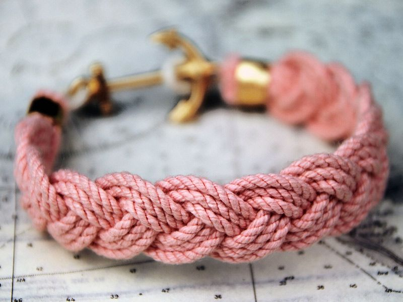 Adelson Palm Hammock anchor rope bracelet from Kiel James Patrick