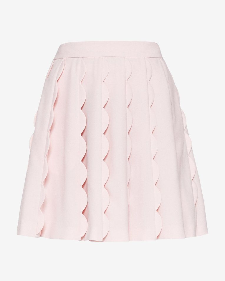42eb934604 Scallop detail mini skirt - Baby Pink