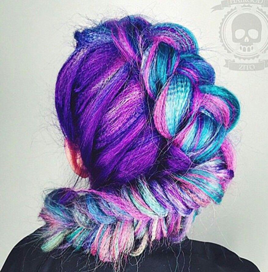 Blue Pink Purple Hair Beautiful Colored Hair Pinterest Pink