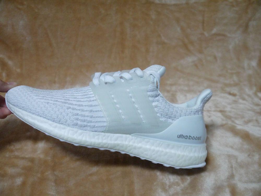 100% Authentic Men s Shoes Adidas Ultra Boost 3.0  Triple White ... b65b9fbc3