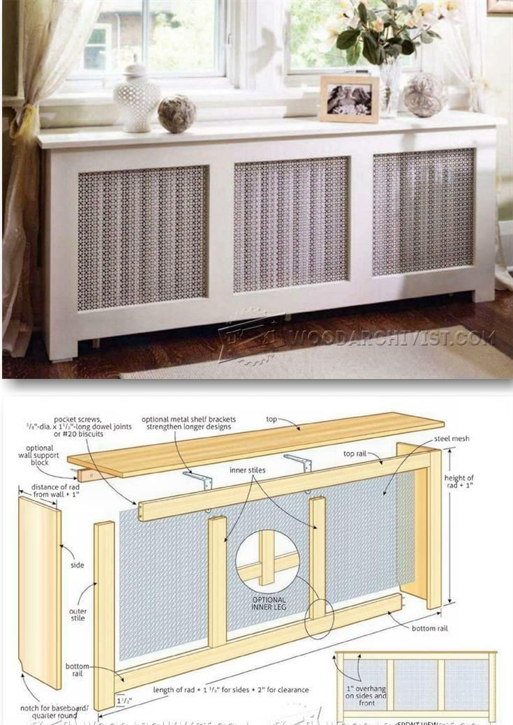 Radiator Cover Plans Woodworking Plans And Projects Woodarchivist Com Woodworking Plans Woodworking Shop Plans Cool Woodworking Projects