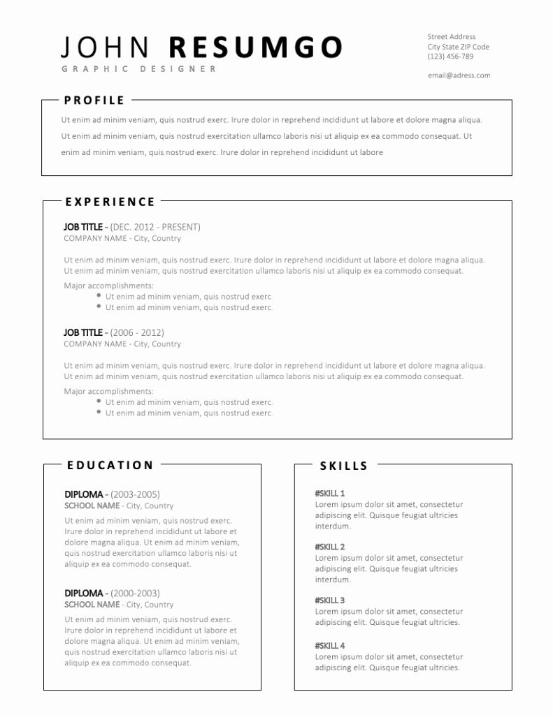 Free Simple Resume Templates Best Of Miltiades Simple