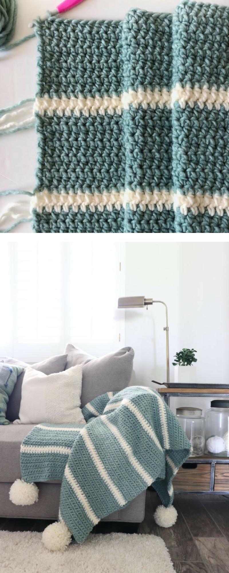 Free Pattern - Modern Low Tide Crochet Throw   Arts   CRAFTS ...