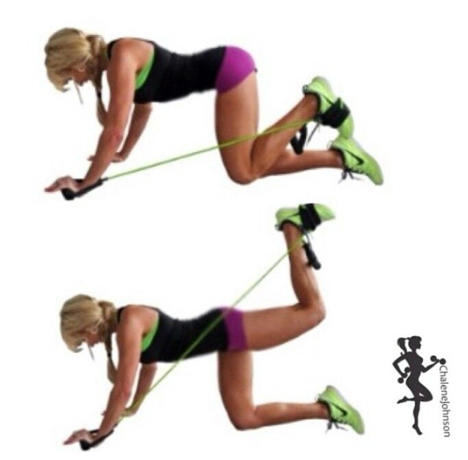 Resistance Bands Leg Workout Click On Pin To See Some