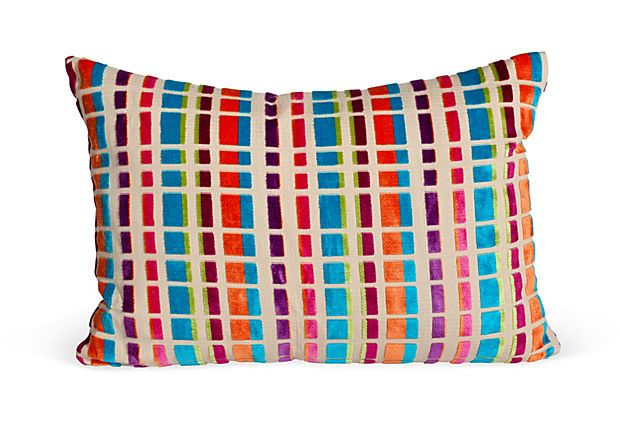 Colorful Accent Pillow by Woodson & Rummerfield