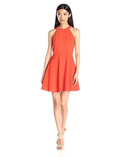JOA Women s High Neck Baby Doll Dress b889d8338