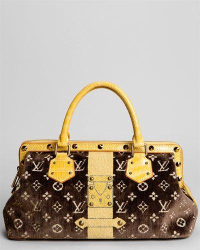 79c11130f6b5 Louis Vuitton Brown Velvet Trompe L oeil L Ingenieux Satchel