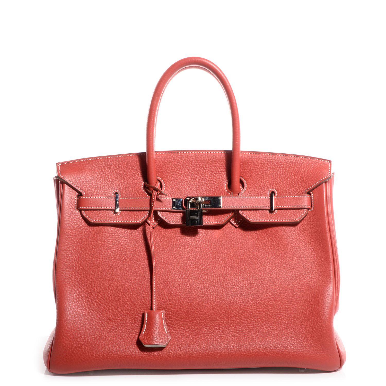 Hermes Taurillon Clemence Eclat Birkin 35 Sanguine And Blanc Birkin Hermes Popular Bags