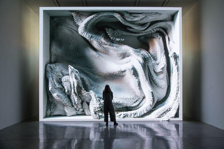 Refik Anadol, Melting Memories | Yeni medya sanatı, Sanat, Resim