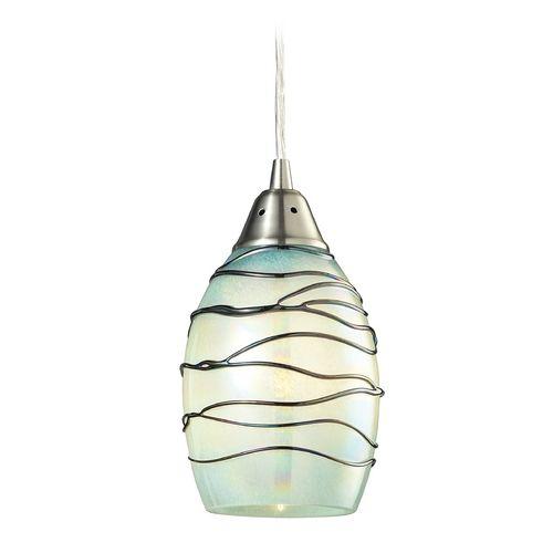 Elk Lighting Mini-Pendant Light with Blue Glass | 31348/1MN | Destination Lighting  sc 1 st  Pinterest & Mini-Pendant Light with Mint Green Glass | Mini pendant lights ... azcodes.com